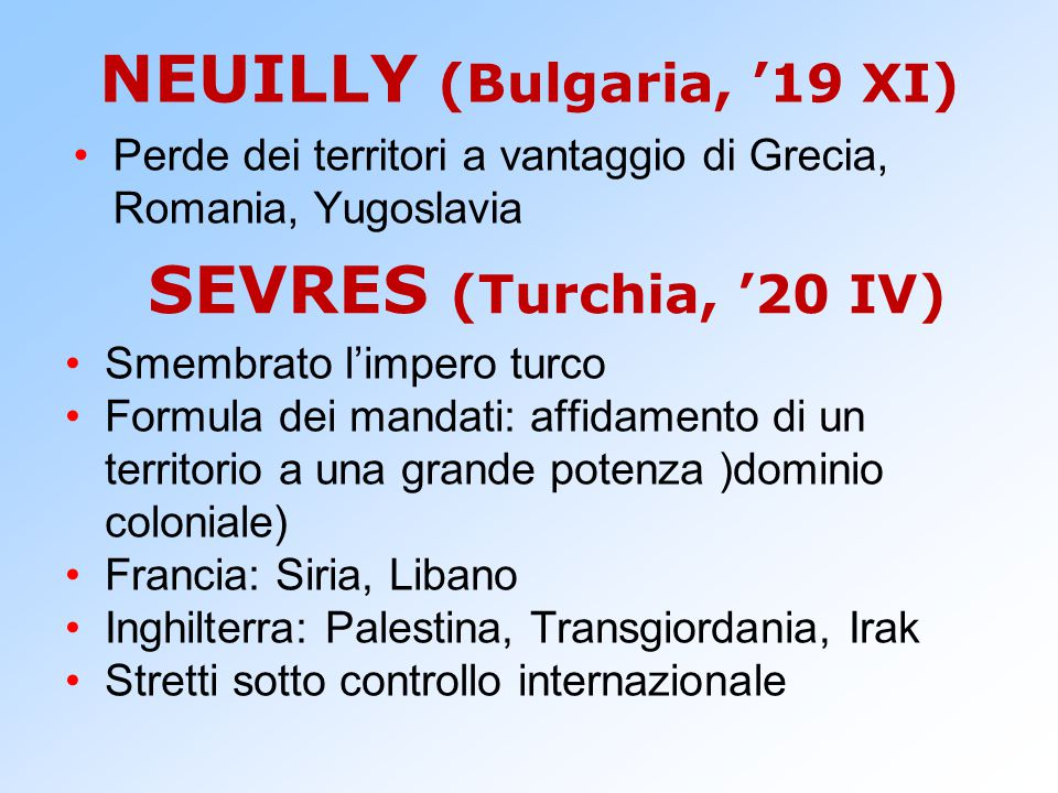 NEUILLY (Bulgaria, '19 XI)