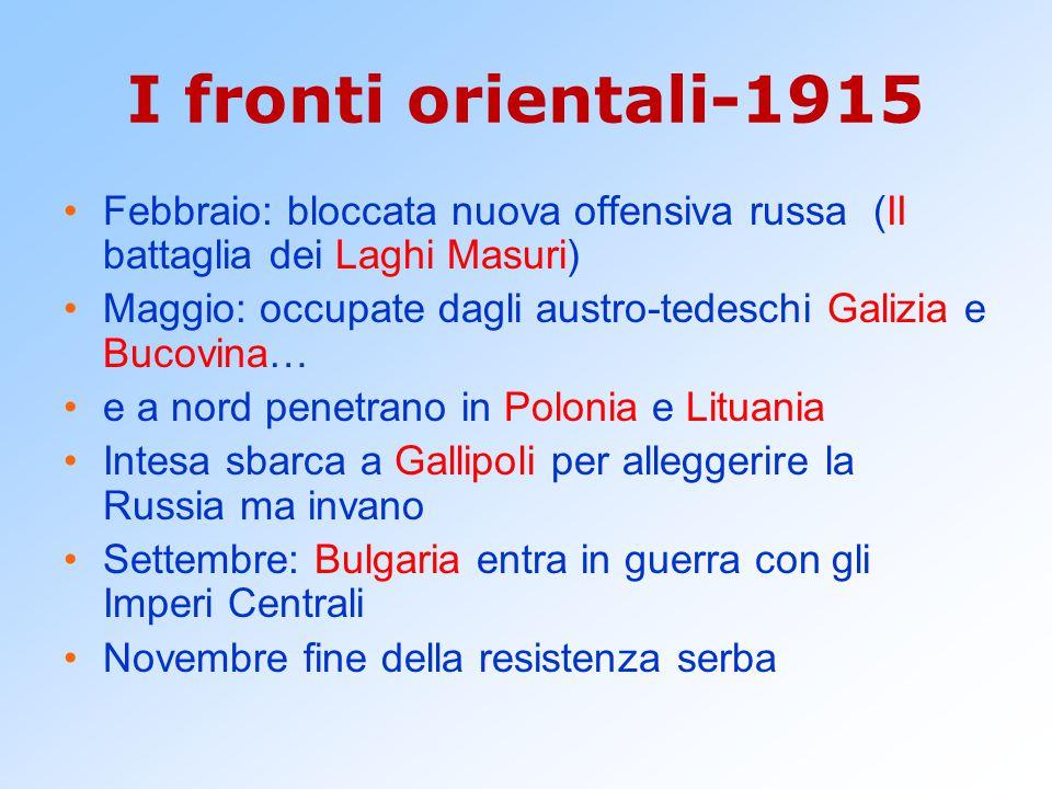 I fronti orientali-1915 Febbraio: bloccata nuova offensiva russa (II battaglia dei Laghi Masuri)