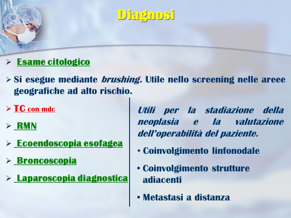 Diagnosi Esame citologico