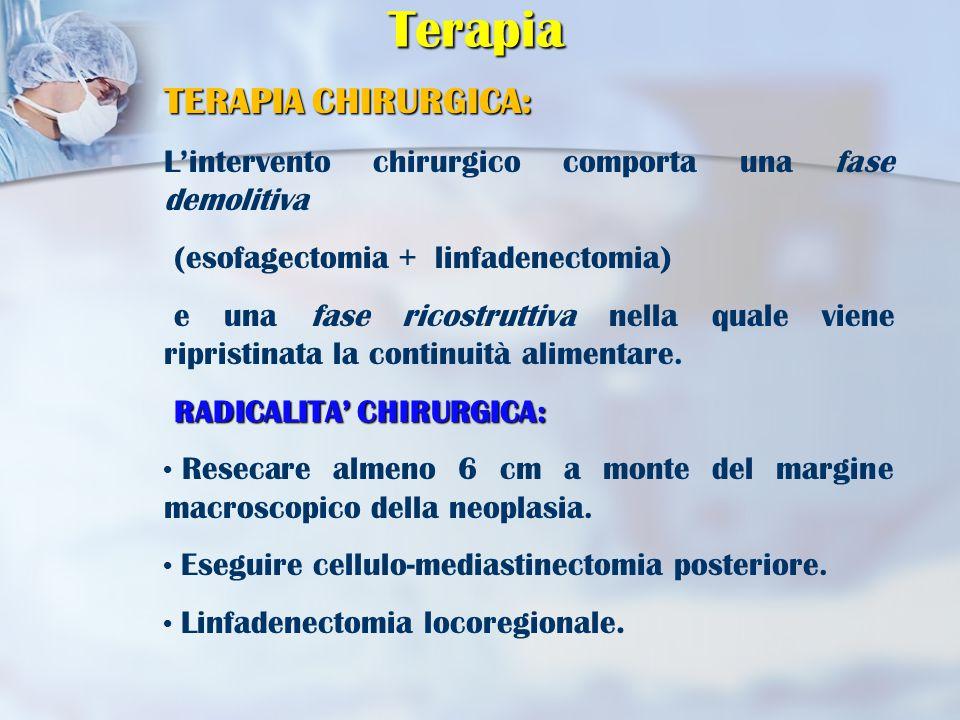 Terapia TERAPIA CHIRURGICA: