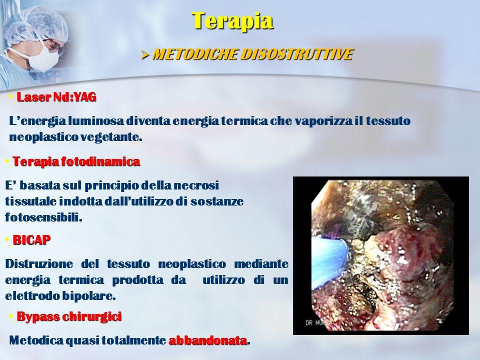 Terapia METODICHE DISOSTRUTTIVE Laser Nd:YAG