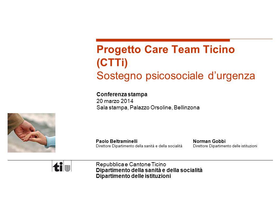 Progetto Care Team Ticino (CTTi) Sostegno psicosociale d'urgenza