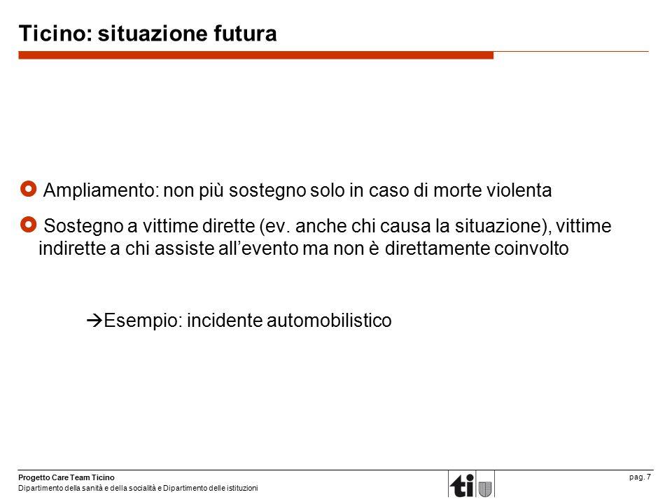 Ticino: situazione futura