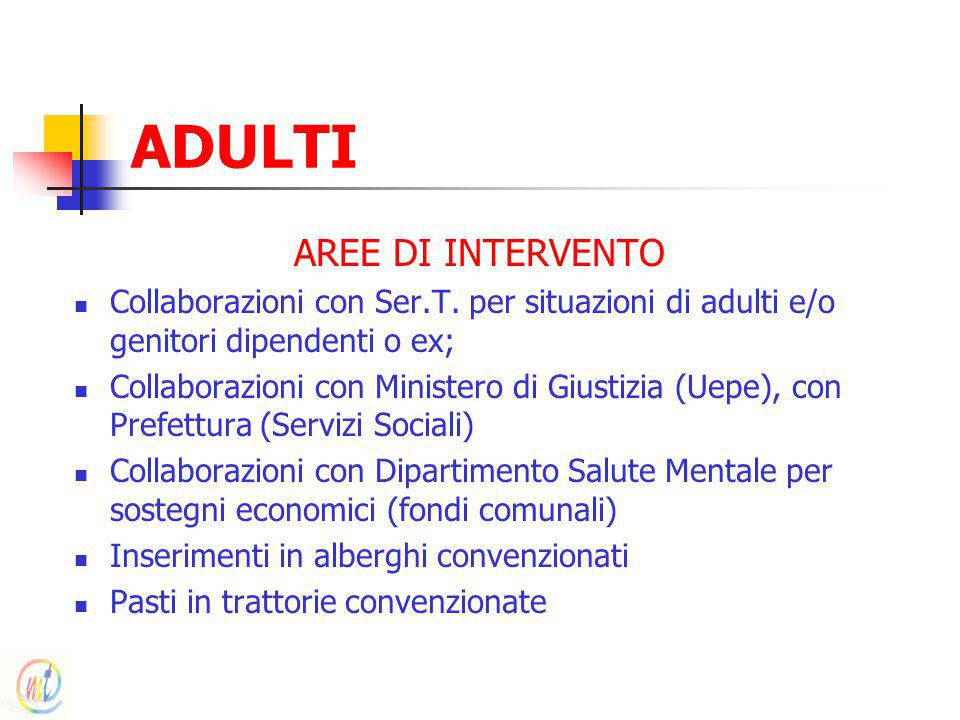 ADULTI AREE DI INTERVENTO