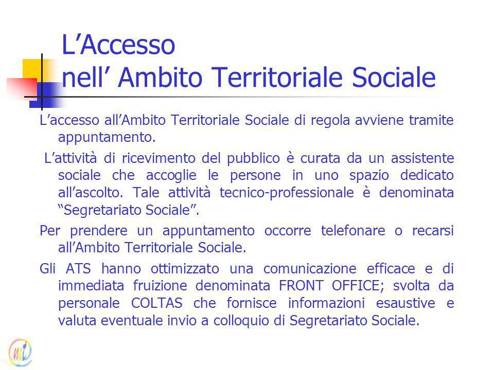 L'Accesso nell' Ambito Territoriale Sociale