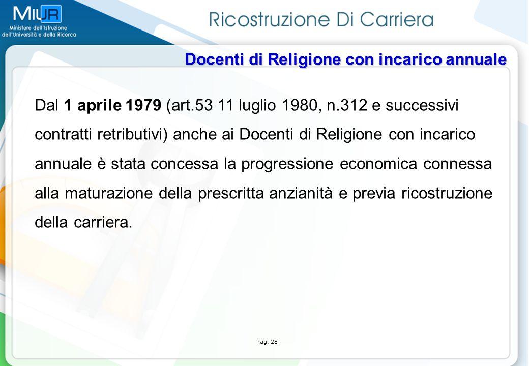 Dal 1 aprile 1979 (art.53 11 luglio 1980, n.312 e successivi