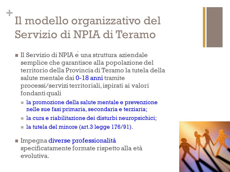 Il modello organizzativo del Servizio di NPIA di Teramo