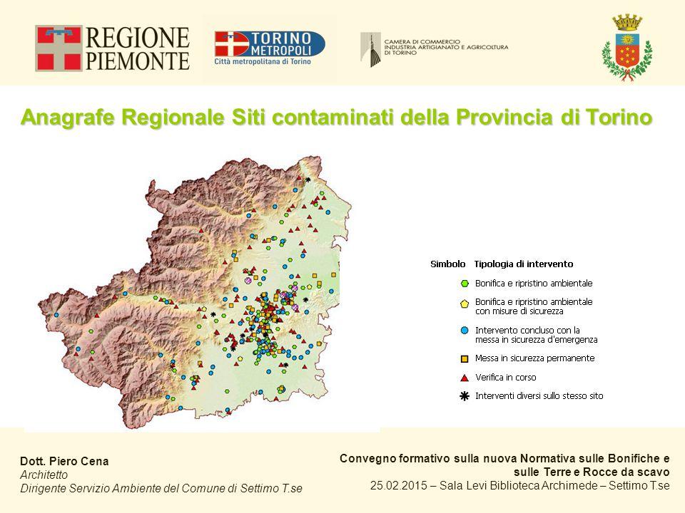 Anagrafe Regionale Siti contaminati della Provincia di Torino