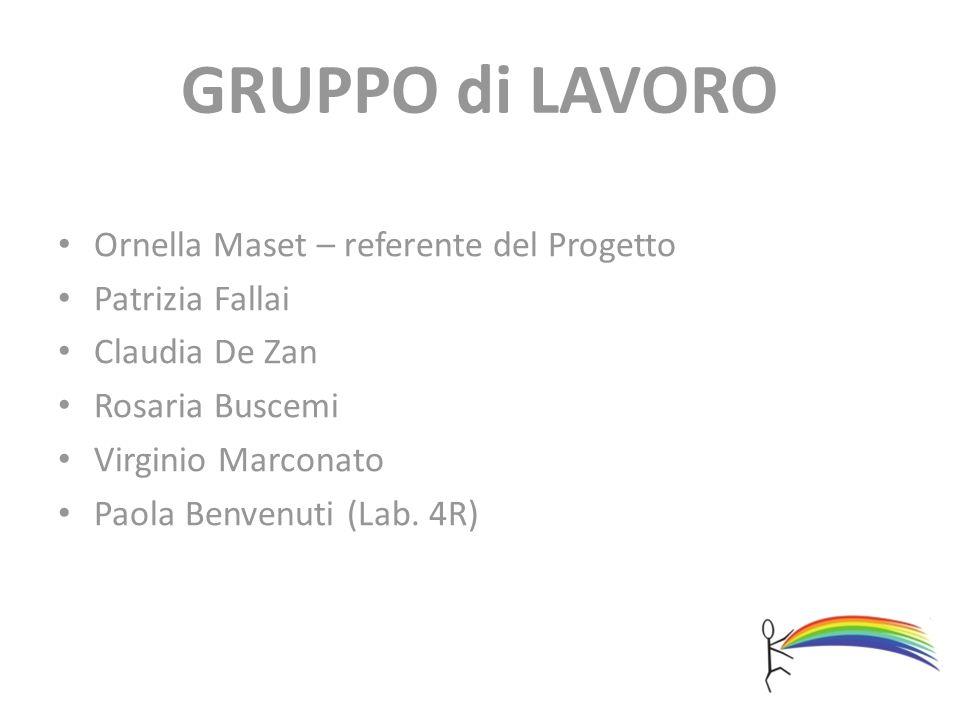 GRUPPO di LAVORO Ornella Maset – referente del Progetto