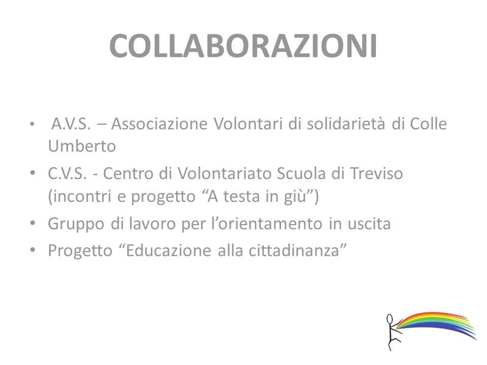 COLLABORAZIONI A.V.S. – Associazione Volontari di solidarietà di Colle Umberto.