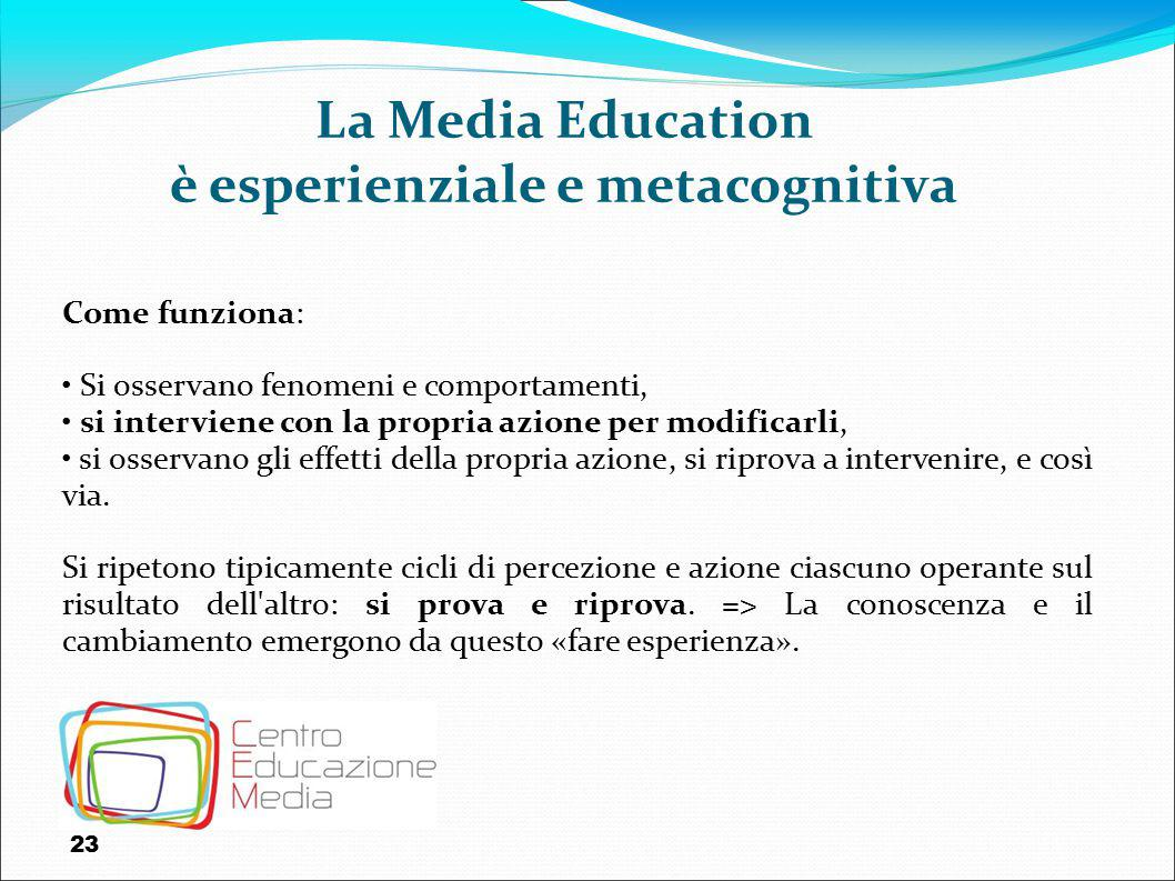 La Media Education è esperienziale e metacognitiva