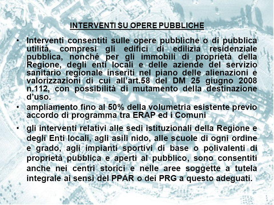 INTERVENTI SU OPERE PUBBLICHE