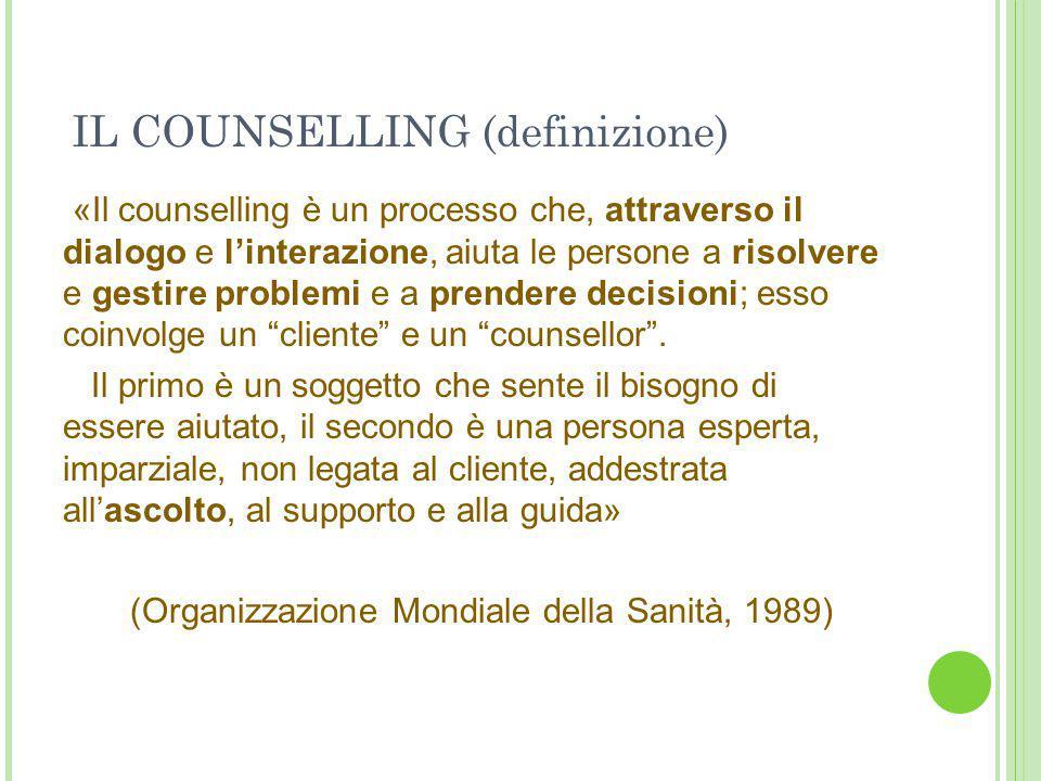 IL COUNSELLING (definizione)