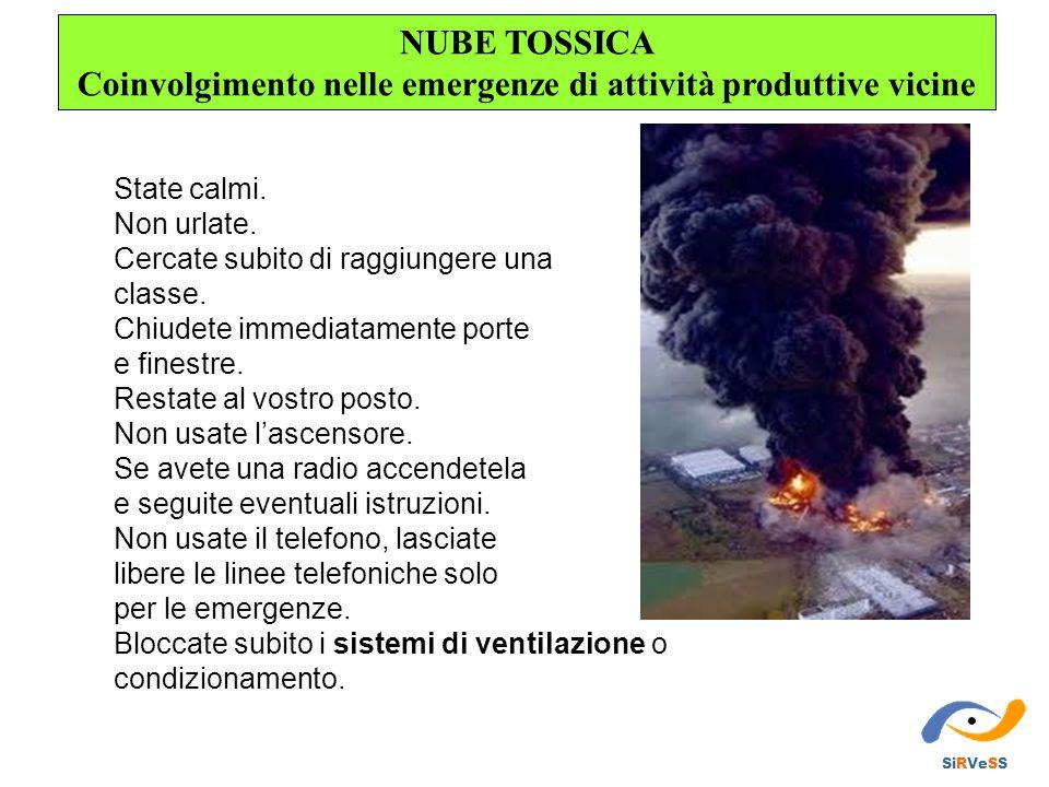 NUBE TOSSICA Coinvolgimento nelle emergenze di attività produttive vicine