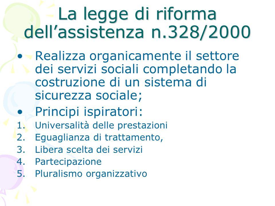 La legge di riforma dell'assistenza n.328/2000