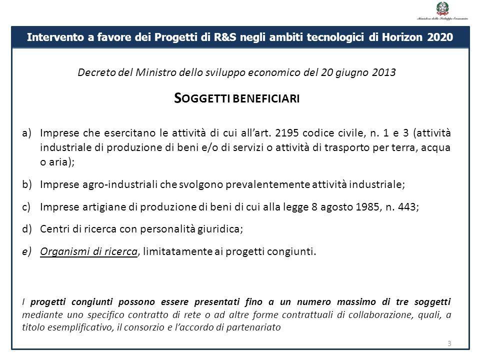 Decreto del Ministro dello sviluppo economico del 20 giugno 2013