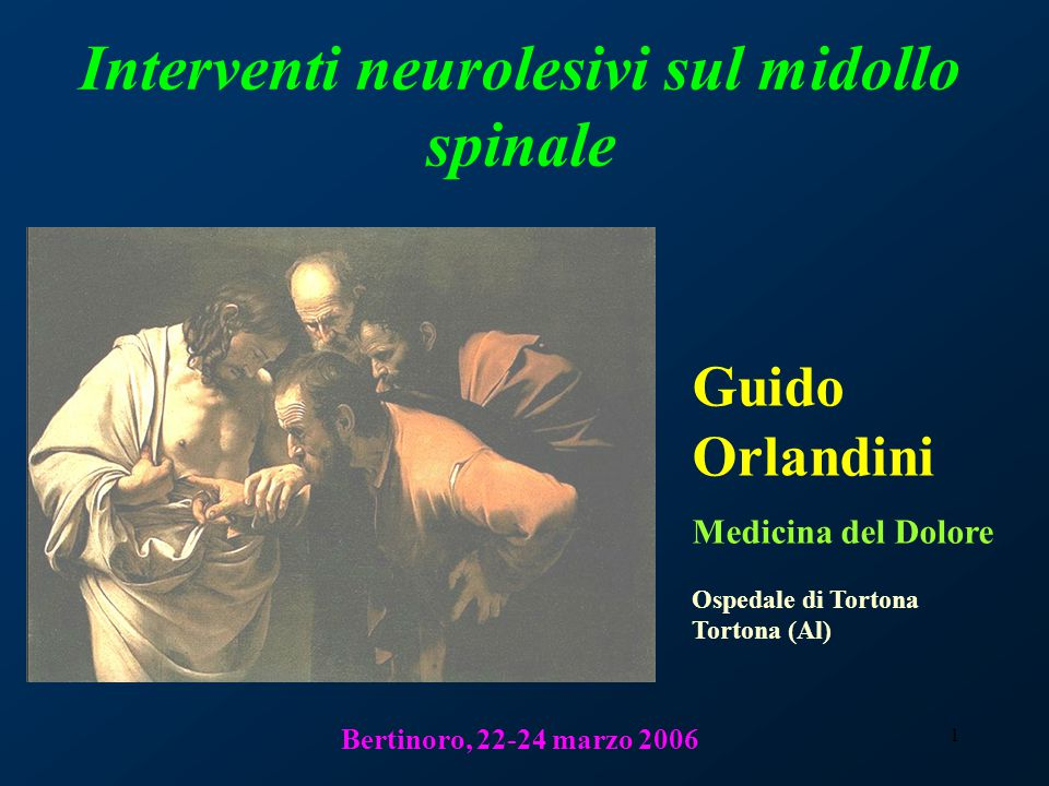 Interventi neurolesivi sul midollo spinale