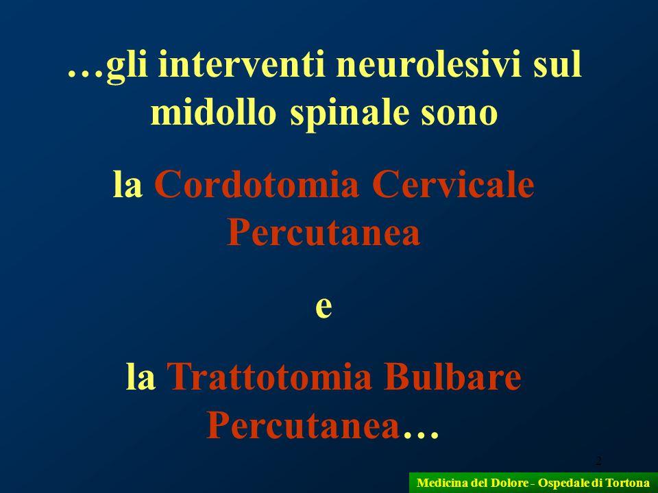 …gli interventi neurolesivi sul midollo spinale sono