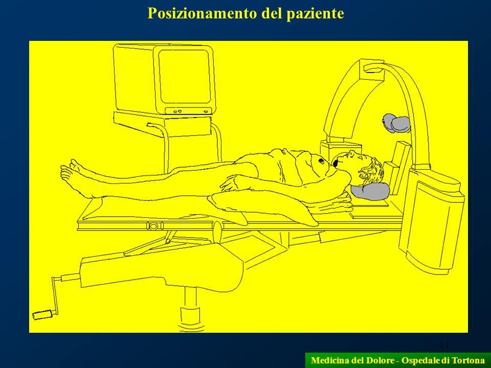 Posizionamento del paziente Medicina del Dolore - Ospedale di Tortona