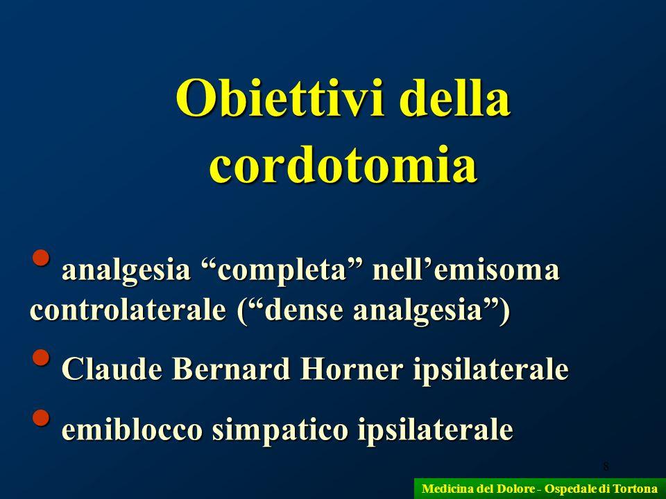 Obiettivi della cordotomia