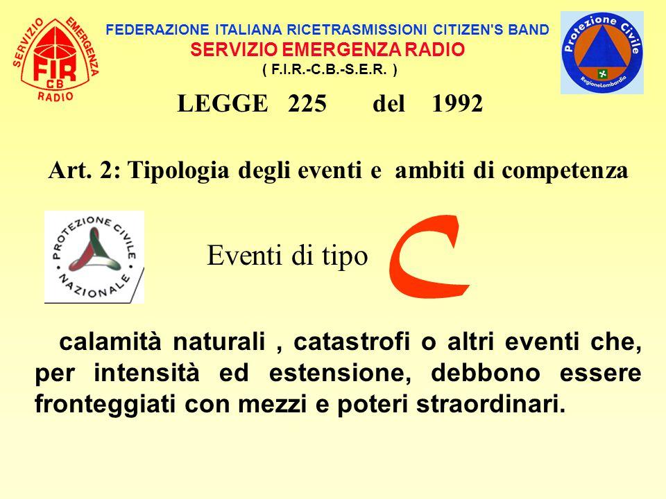 C Eventi di tipo LEGGE 225 del 1992