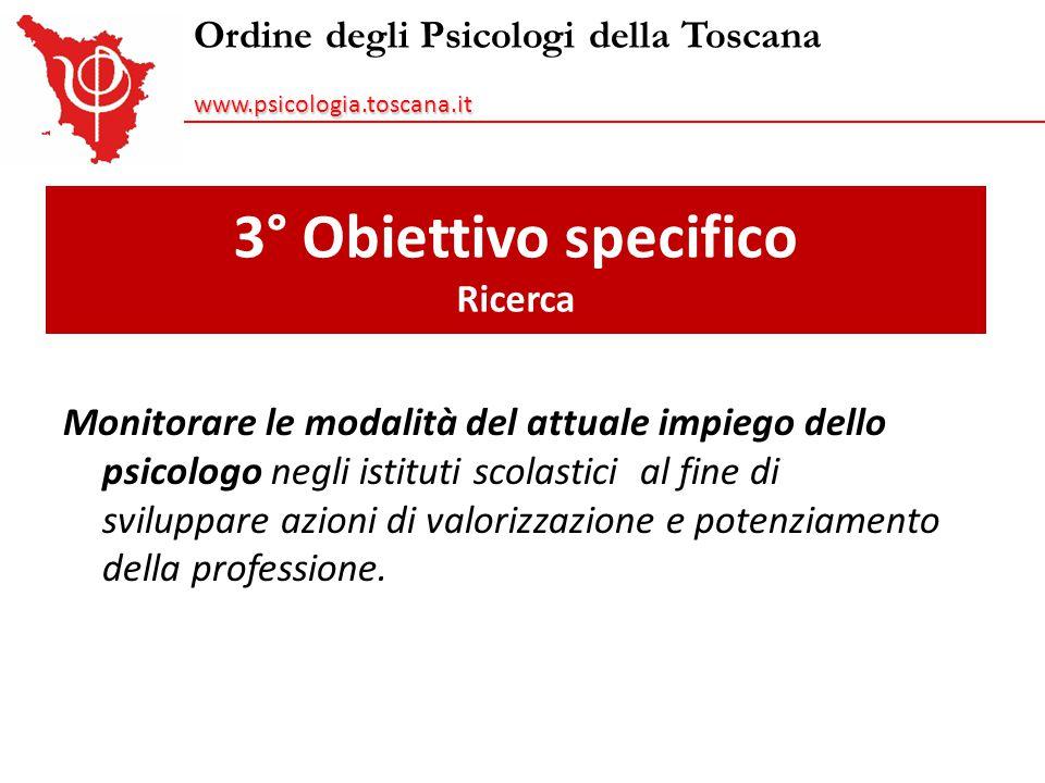 3° Obiettivo specifico Ricerca