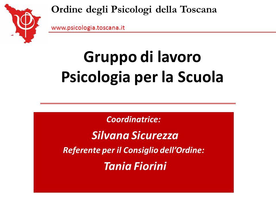 Gruppo di lavoro Psicologia per la Scuola