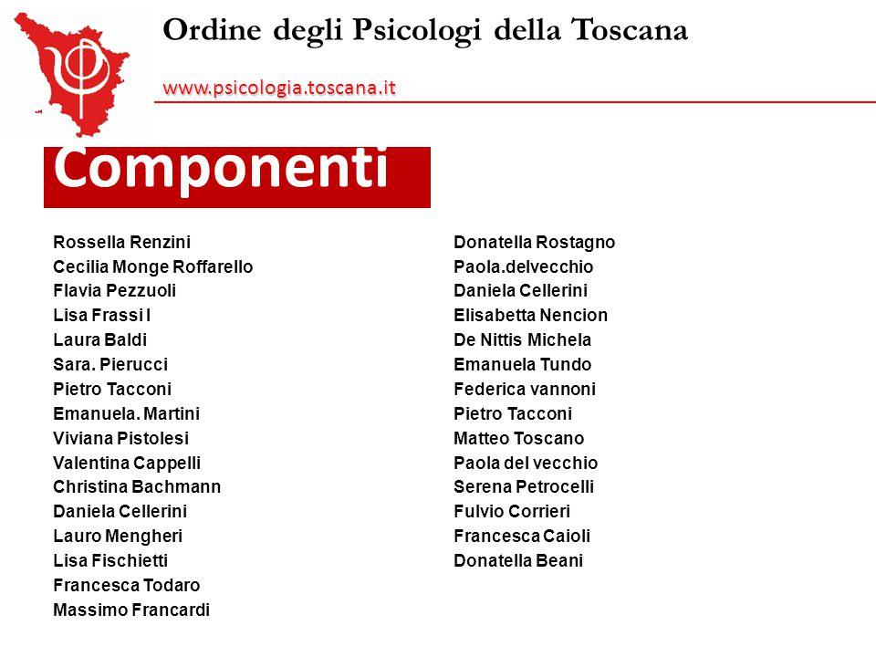 Componenti Ordine degli Psicologi della Toscana