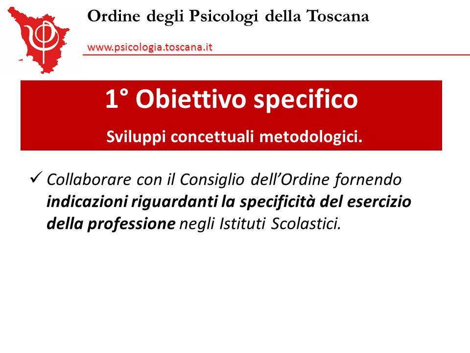 1° Obiettivo specifico Sviluppi concettuali metodologici.