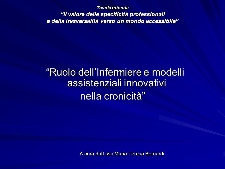 Ruolo dell'Infermiere e modelli assistenziali innovativi