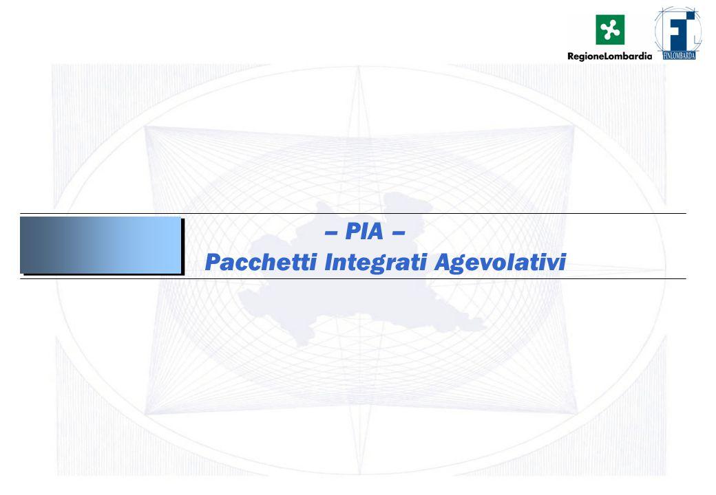 – PIA – Pacchetti Integrati Agevolativi