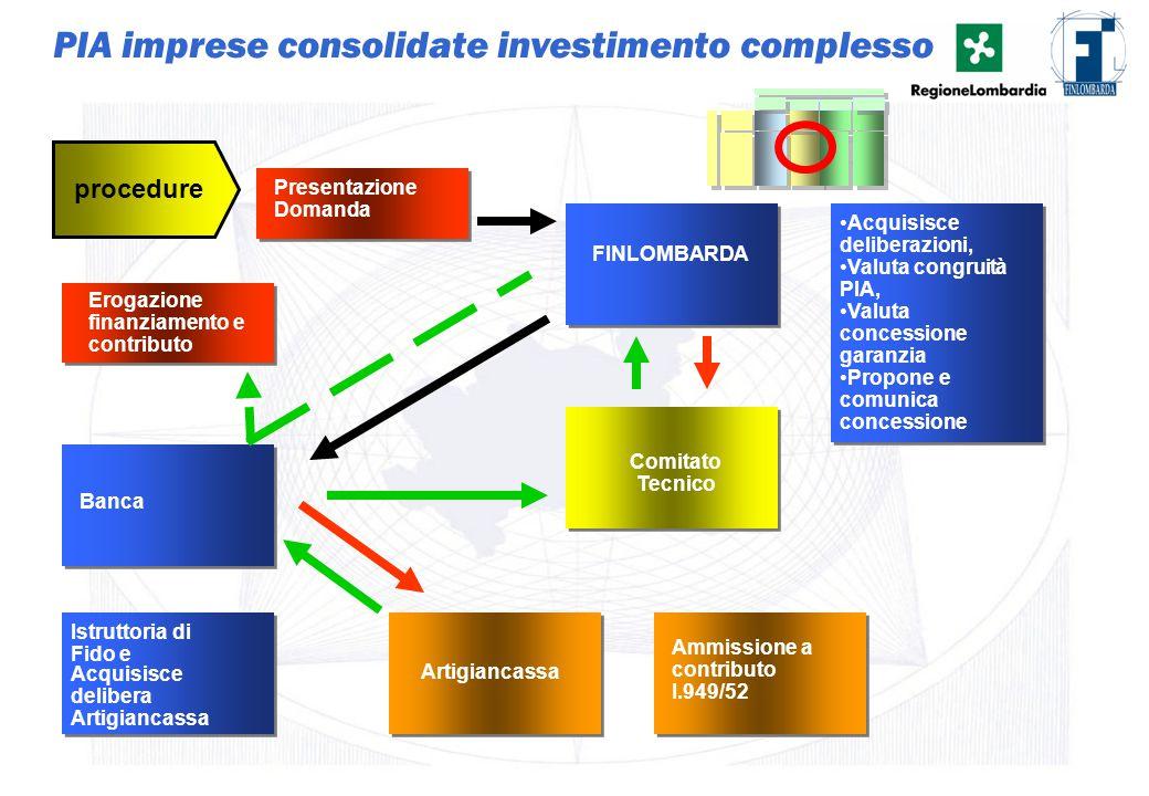 PIA imprese consolidate investimento complesso