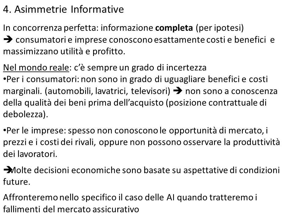 4. Asimmetrie Informative