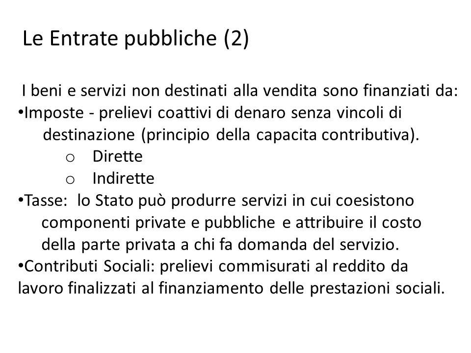 Le Entrate pubbliche (2)