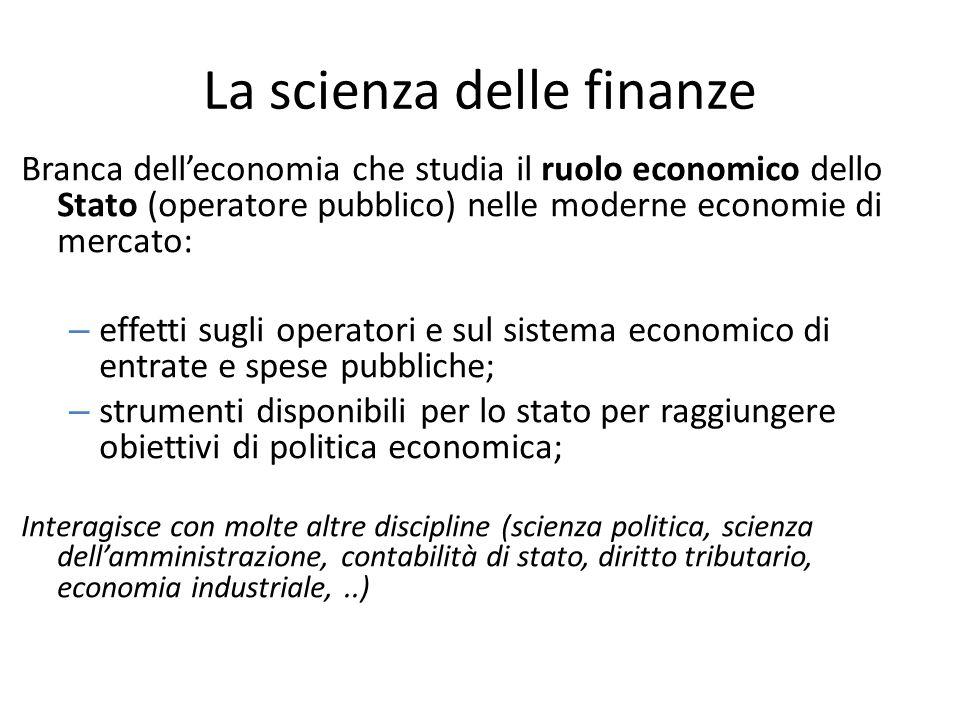 La scienza delle finanze