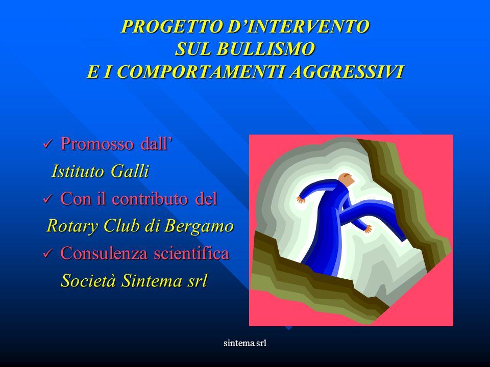 PROGETTO D'INTERVENTO SUL BULLISMO E I COMPORTAMENTI AGGRESSIVI