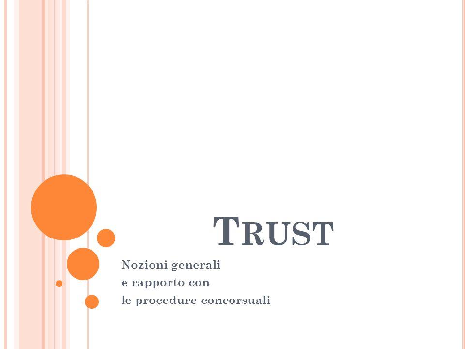 Nozioni generali e rapporto con le procedure concorsuali