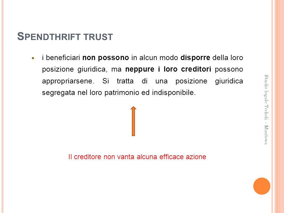 Il creditore non vanta alcuna efficace azione