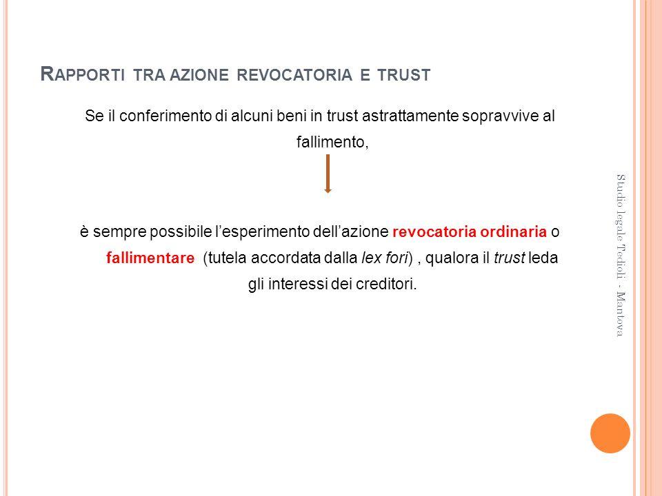 Rapporti tra azione revocatoria e trust