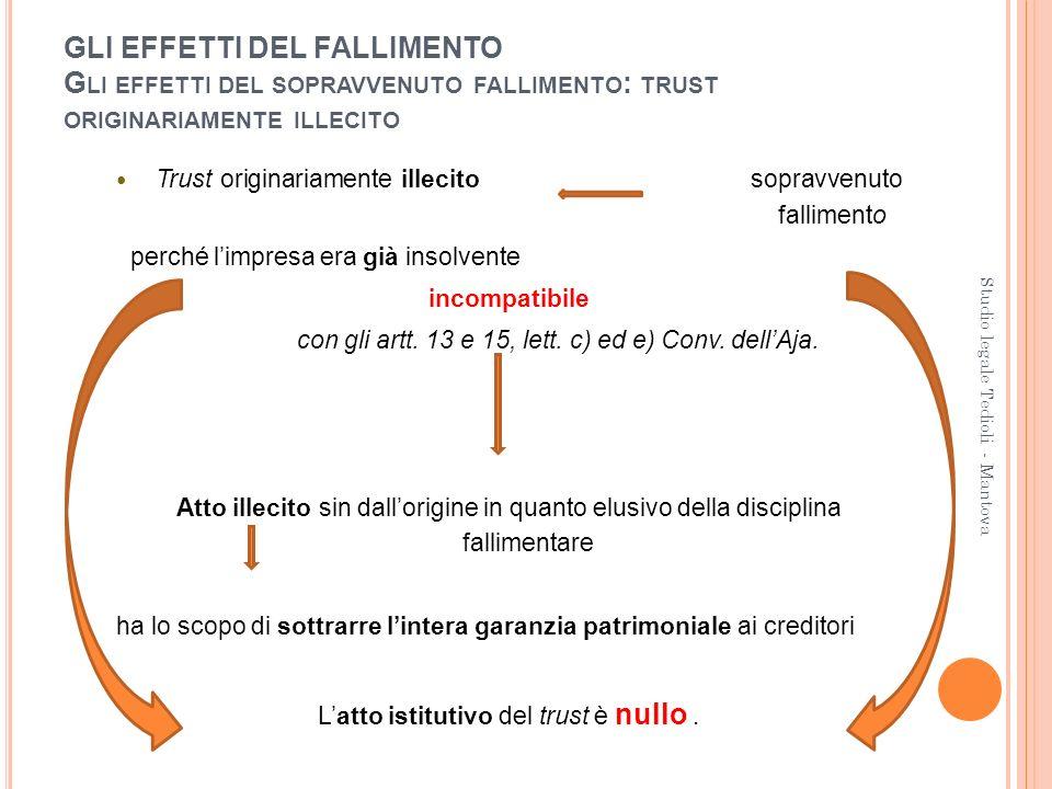L'atto istitutivo del trust è nullo .