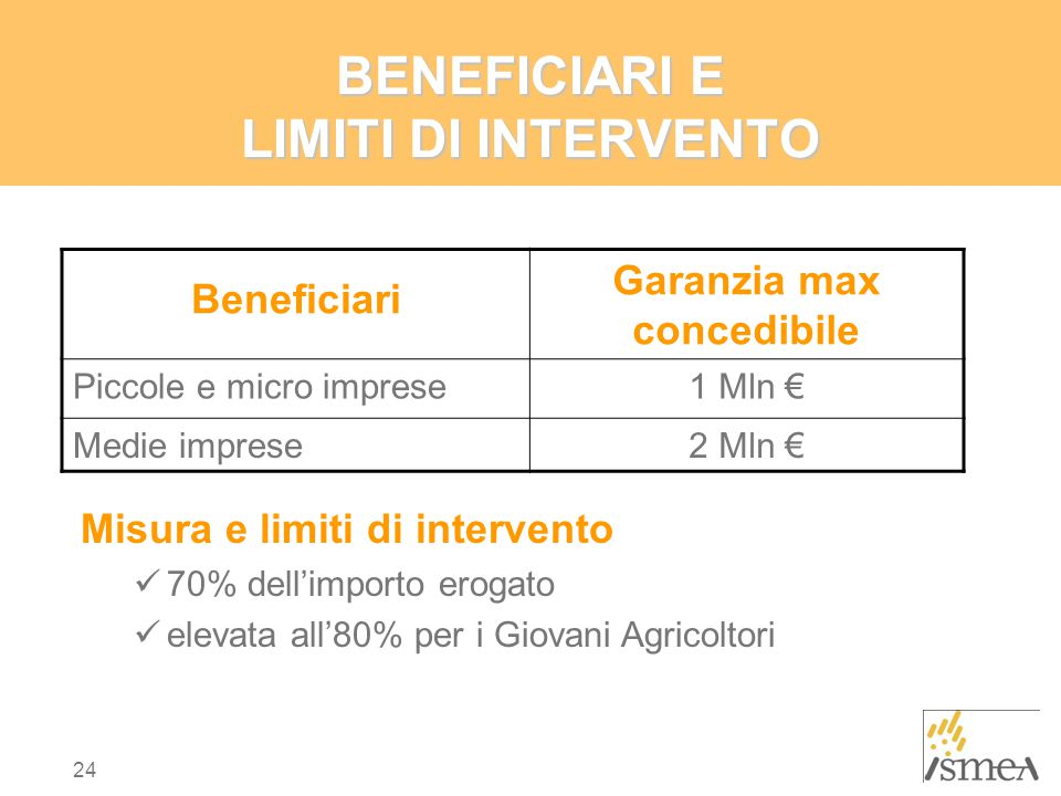 BENEFICIARI E LIMITI DI INTERVENTO