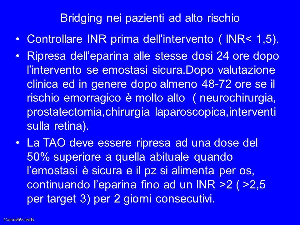 Bridging nei pazienti ad alto rischio