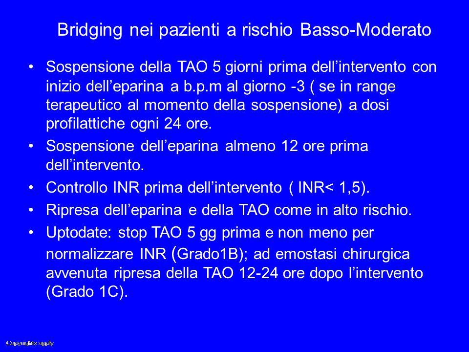 Bridging nei pazienti a rischio Basso-Moderato