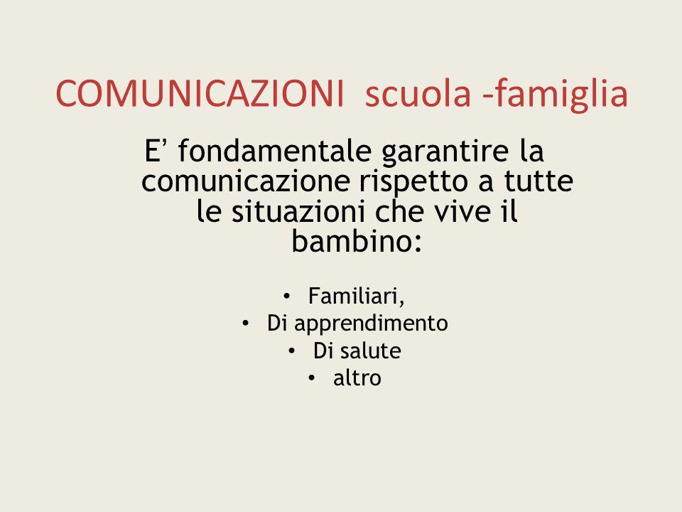 COMUNICAZIONI scuola -famiglia
