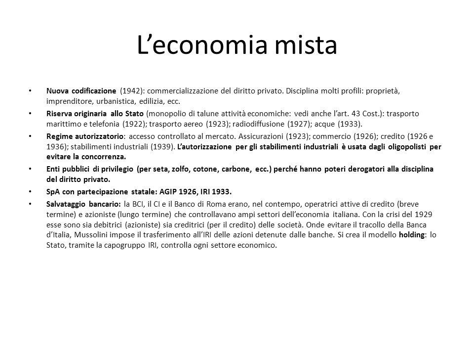 L'economia mista