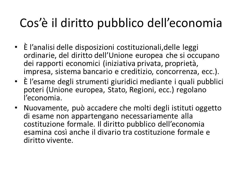 Cos'è il diritto pubblico dell'economia