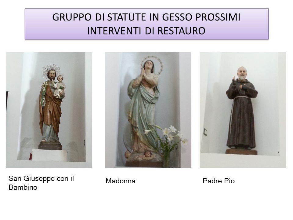 GRUPPO DI STATUTE IN GESSO PROSSIMI INTERVENTI DI RESTAURO