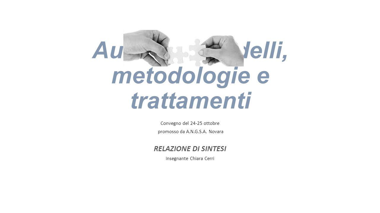 Autismo: modelli, metodologie e trattamenti
