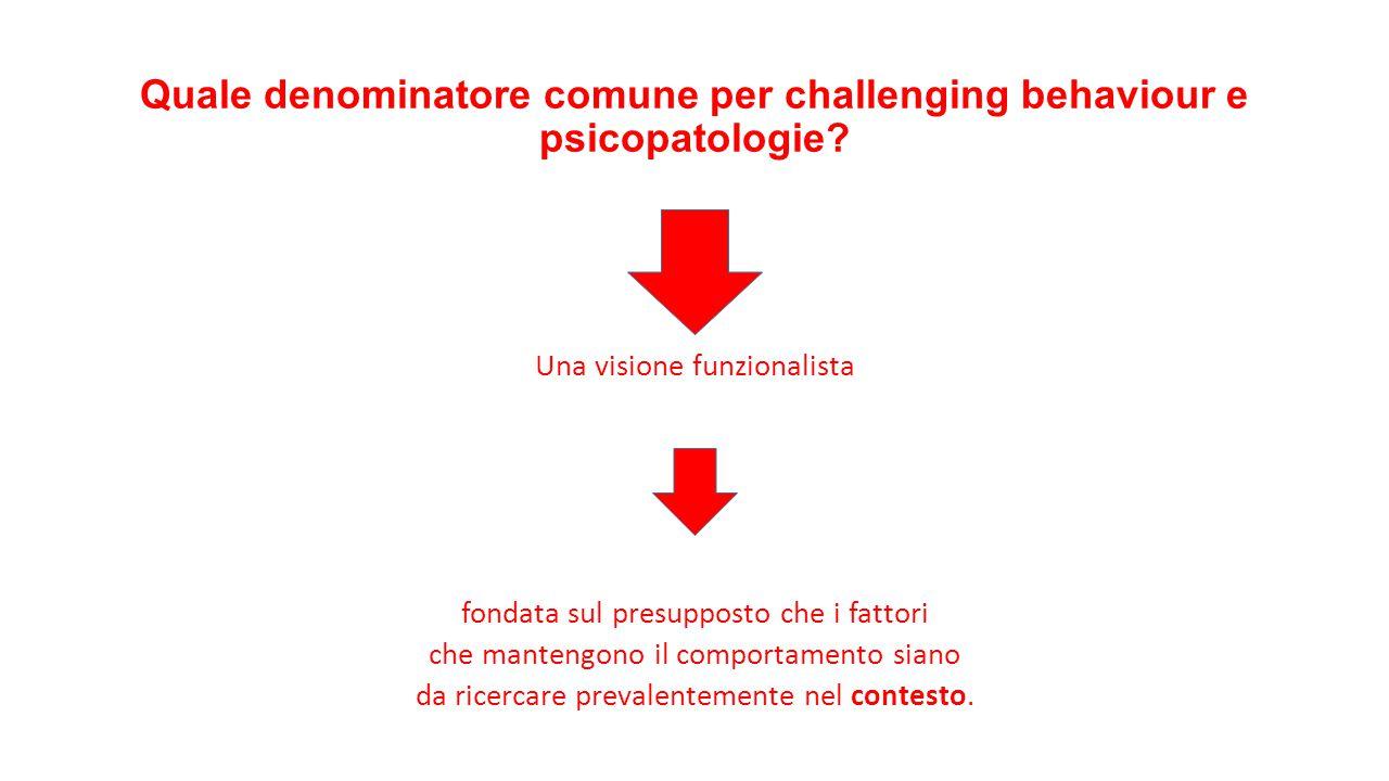 Quale denominatore comune per challenging behaviour e psicopatologie