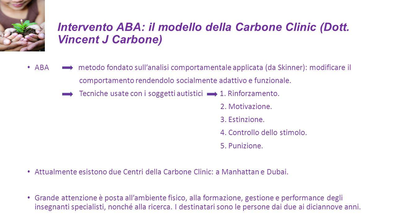 Intervento ABA: il modello della Carbone Clinic (Dott